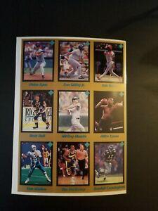 1991 Tuff Stuff Jr. Magazine Uncut Sheet - Mike Tyson card!