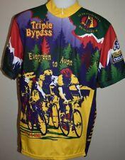 Triple Bypass Cycling Jersey Voler Racing Clif Bar Evergreen Avon Wheat Ridge