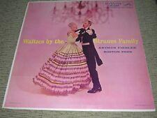 """ARTHUR FIEDLER BOSTON POPS 1956 Waltzes By Strauss Family (EX) 12"""" LP LPM-1028"""