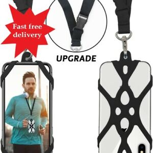 ROCONTRIP 2 in 1 Cell Phone Lanyard Strap Case Holder with Detachable Neckstrap