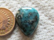 Turquoise Cabochon 11 carat Cab Unknown Origin Mystery Web Blue Green Boulder