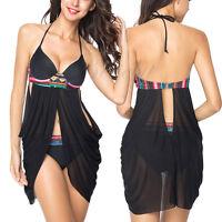 Womens Padded Bra Bandage Swimsuit Push-up Bikini Set Swimwear Beachwear Bathing