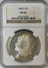 1880 S MS 66 NGCMorgan Silver Dollar ToningBoth Sides