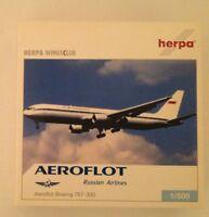 Herpa Wings Club Aeroflot Boeing 767-300 1/500