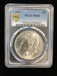 1887 $1 PCGS MS65