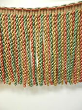 Conso Acetate Bullion Gold Sage Red Copper Color 9 Inch Fringe By the Yard