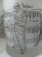 VINTAGE ORCHESTRATIONS DOUBLE OLD FASHIONED GLASS PAGLIACCI - RARE SET OF 6