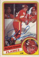 Richard Kromm Signed  O-Pee-Chee Hockey card 84-85 COA 3/13