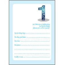 10 Childrens Birthday Party Invitations, 1 Year Old Boy -BPIF-04