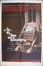 """TWO ON A GUILLOTINE 1 sheet US Genuine movie poster 27x41"""" W.Conrad Film 1965 VF"""