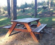 Tavolo da giardino in legno con panchine esterno pic nic parco