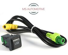 VW USB PORT DASH SOCKET CABLE WIRE GOLF MK5 MK6 RNS510 RNS310 RCD510 5KD035726A