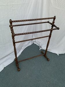 Antique Wood Ornate Decorative  Quilt Rack Stand  1800's