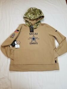 Nike Women's Dallas Cowboys NFL Salute to Service Therma Hoodie Size Xlarge NWT