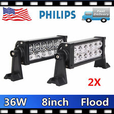 "2PCS 8"" 36W LED Work Light Car Driving FLOOD Lamp Fog OffRoad SUV Truck 4WD SLIM"