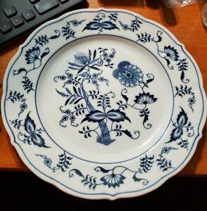 "Rare VINTAGE Blue Danube China Dinner Plate Blue & White 10"" MINT Square label"