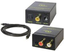 Digital DB Tech Optical Toslink or SPDIF Coax to Analog L/R RCA Audio Converter