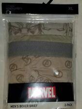 Boxer Briefs Marvel Avengers S Brief 2 Count Ultra Soft Knit Dessert Brown Mens