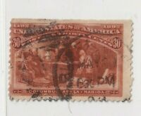1893 US Stamps Sc#239 Used 30 c, The Columbians cv $90