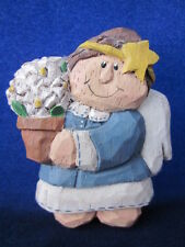 Eddie Walker Magnet Angel holding Flower Pot ~ Midwest Cannon Falls ~ Exc