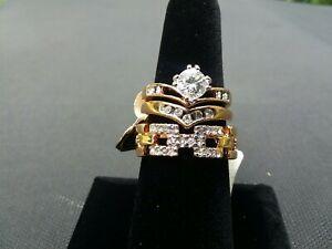 womans wedding ring sets 7 cz cubic zirconia USA nwt $80 USA