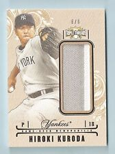HIROKI KURODA 2014 TRIPLE THREADS 2 COLOR PATCH /9 YANKEES