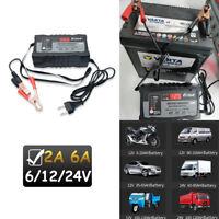 Batterie Ladegerät 6V 12V 24V Batterielader Motorrad KFZ Auto Auto-Stop Schnell