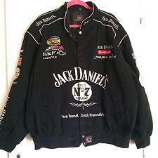JH Design Jack Daniels RCR Nascar Black Twill Racing Jacket Mens 3XL