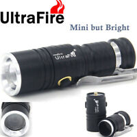 Ultrafire Flashlight Zoomable T6 LED CR123A 30000LM Hunting Camping Light Torch·