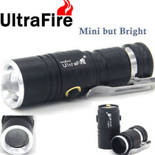 Ultra Mini Flashlight Zoomable T6 LED CR123A 3Mode 30000LM Hunting Camping Light