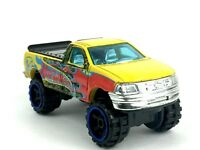 Hot Wheels 1997 97 Ford F-150 Pickup Pick Up Truck Yellow Die Cast 1/64 Loose