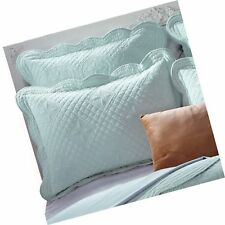 "Sage Garden Luxury Pure Cotton Quilted Standard Pillow Sham 20"". Free Shipping"