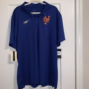 Nike New York Mets Cooperstown Collection Polo Shirt Men's Sz 2XL XXL MLB