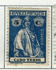PORTUGUESE CAPE VERDE;  1914 early Ceres issue fine used 5c. value