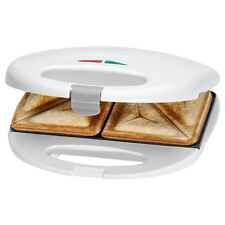 Clatronic ST 3477 Sandwichera 2 sandwiches, antiadherente, 750 W, color blanco