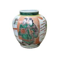 Chinese Oriental People Scenery Graphic Ceramic Vase cs4061