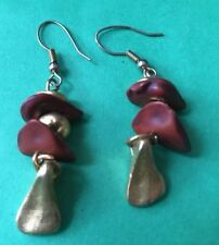 Bohemian Brown Gold Color Beaded Dangle Earring Wire Pierced Fashion Jewelry