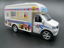 "Kinsfun Ice Cream Truck 5"" Diecast Model Vehicle Car Pull Back & Go Toy"