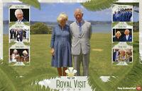 New Zealand NZ Royalty Stamps 2019 MNH Prince Charles Camilla Royal Visit 6v M/S