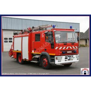 ALERTE 100 - IVECO EUROCARGO FPTMO SIDES 28 EUREET LOIR CHATEAUDUN Pompiers 1/43