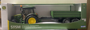 1/16 John Deere 5115M And Tipping Trailer By Bruder 9816 NEW