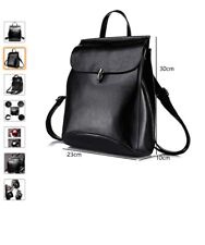 Genuine Leather Backpack Casual Rucksack Convertible Shoulder Bag