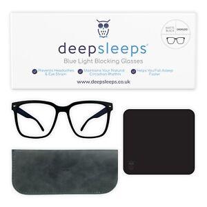 Gaming Glasses Blue Light Blocking Glasses Women Men Oversized Frame Deep Sleeps