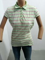 Polo TOMMY HILFIGER Donna T-shirt Woman Maglia Femme Cotone Taglia Size XL 8098