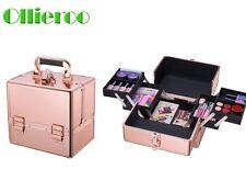 Ollieroo Aluminum Makeup Case Makeup Box Professional Cosmetic Case Makeup Bag
