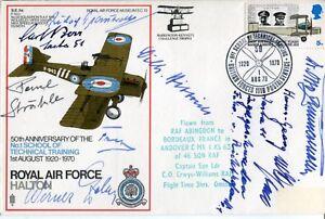 RAF cover signed EIGHT German Great War pilots + Arnhem Panzer General
