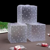50pcs PVC Cube Candy Gift Boxes Wedding Favor Gifts Box Bags Transparent