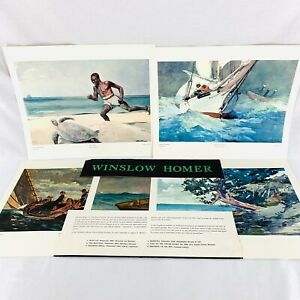 Vintage 1959 Winslow Homer Art Print Portfolio Metropolitan Museum of Art