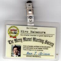 Heroes TV Show ID Badge-Hiro Nakamura The Merry Marvel Marching cosplay costume