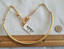 Brighton retired Monogram Gold choker collar bead charm necklace J47611 new B135